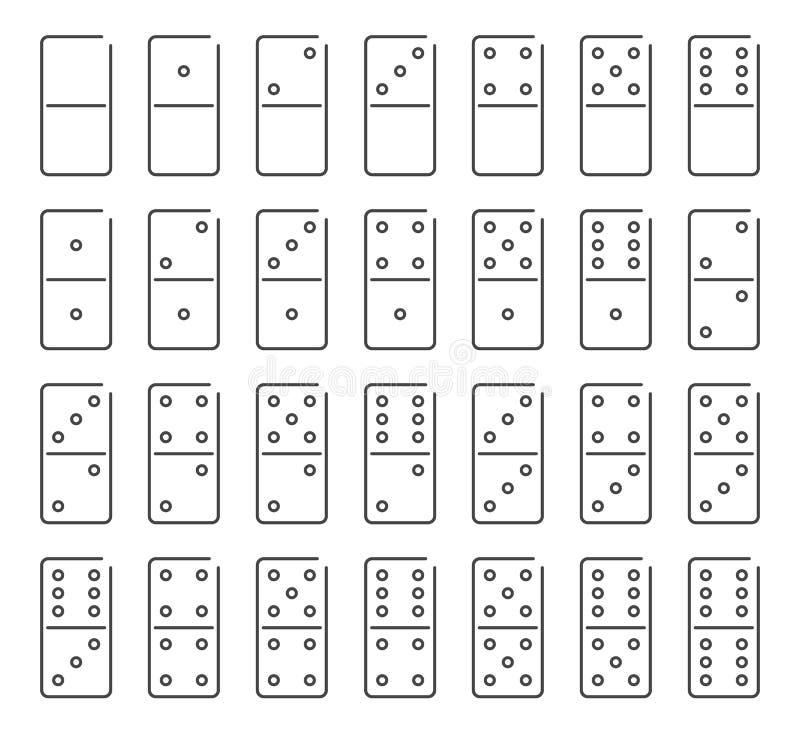 多米诺象集合,传染媒介标志 库存例证