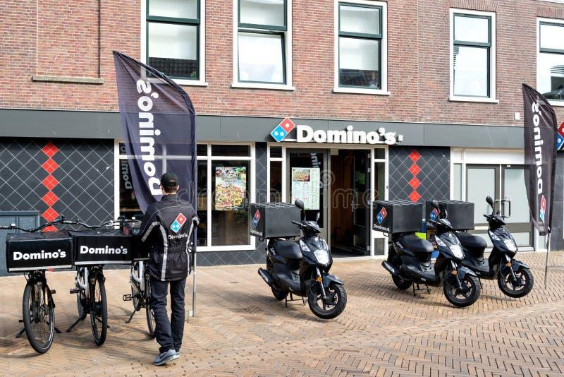 多米诺` s餐馆在卡特韦克aan Zee,荷兰 免版税库存照片