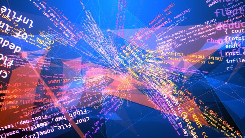 多维和弯曲编码节目 库存例证