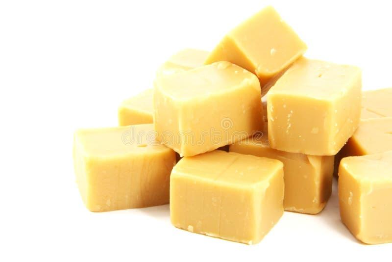 多维数据集乳脂软糖甜点 免版税库存图片