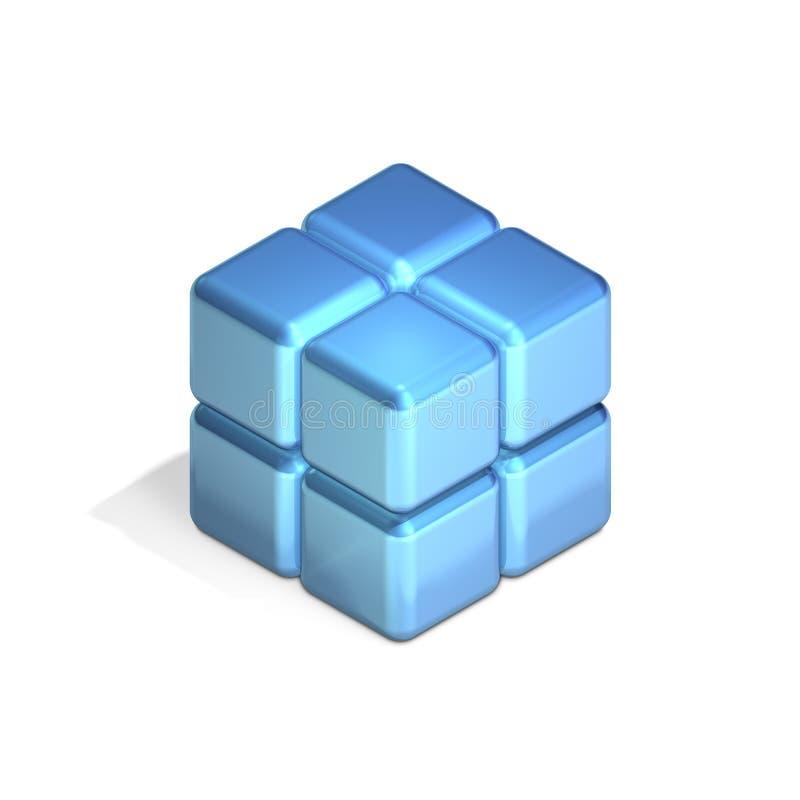 多维数据集八四在堆积 库存例证