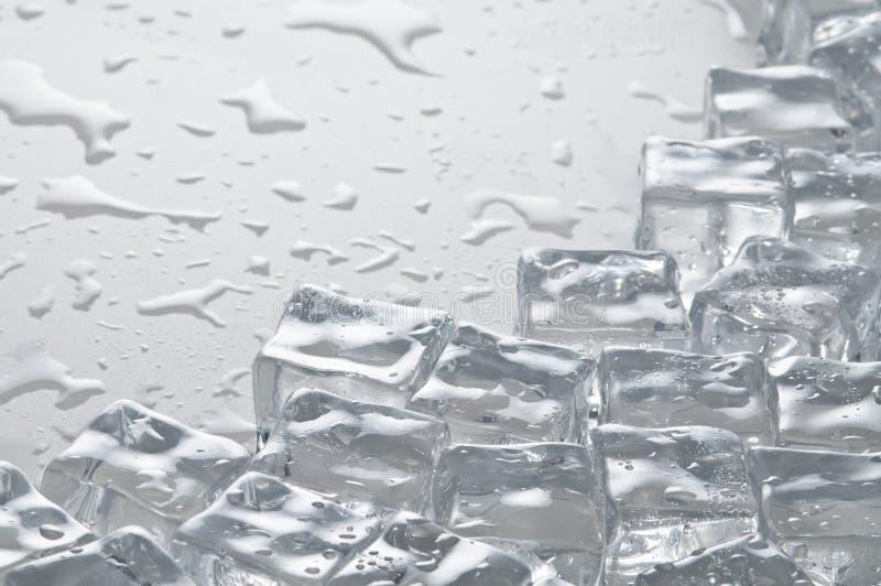 多维数据集冰反对湿 免版税库存照片