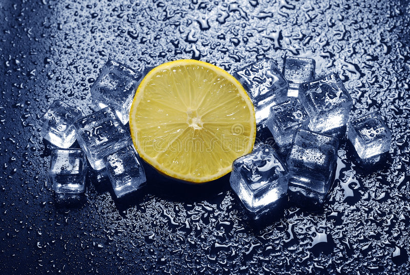 多维数据集冰柠檬 库存照片