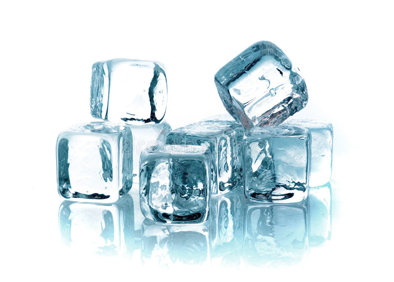 多维数据集冰熔化 库存图片