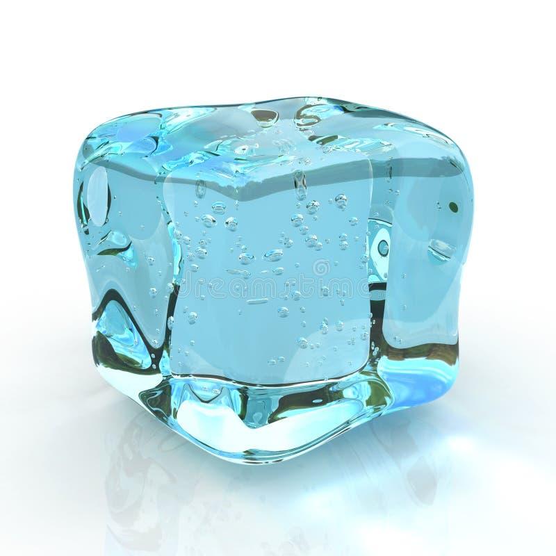 多维数据集冰 库存例证