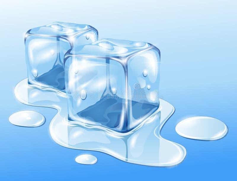 多维数据集冰 向量例证