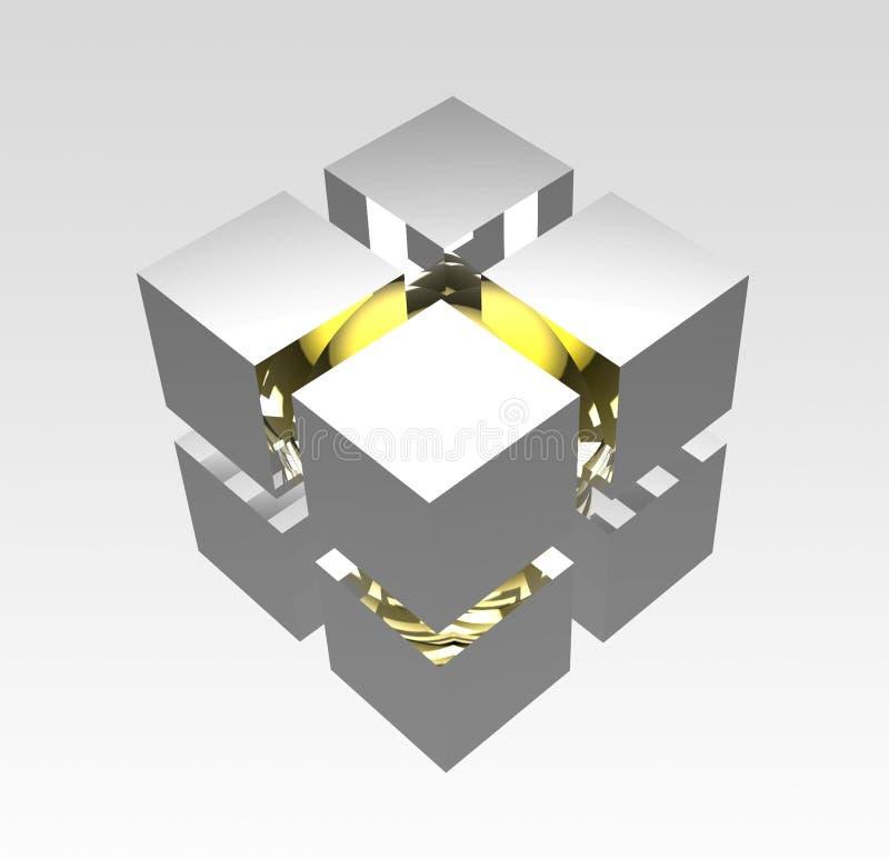 多维数据集图标 库存例证
