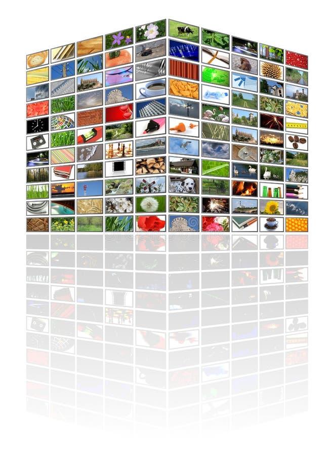 多维数据集多媒体 库存例证