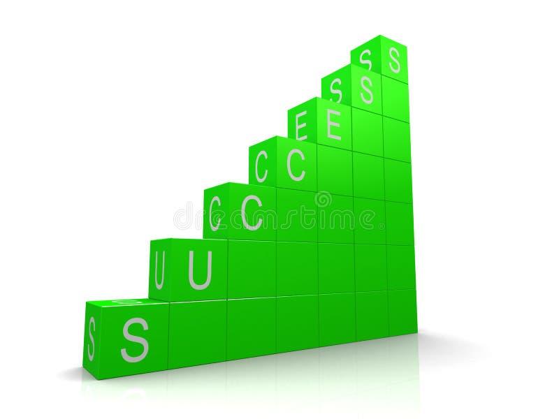 多维数据集成功 向量例证