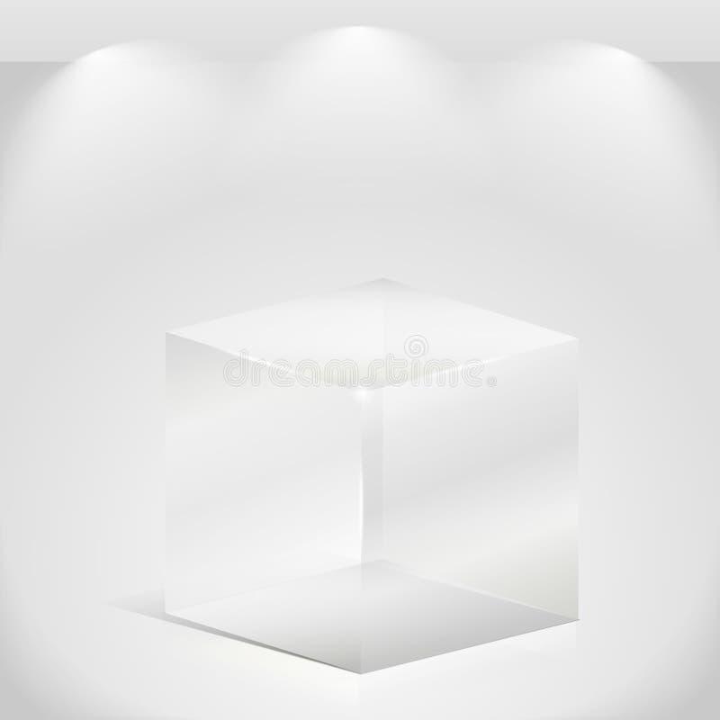 多维数据集玻璃 向量例证