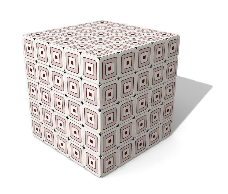 多维数据集纸板 免版税库存图片