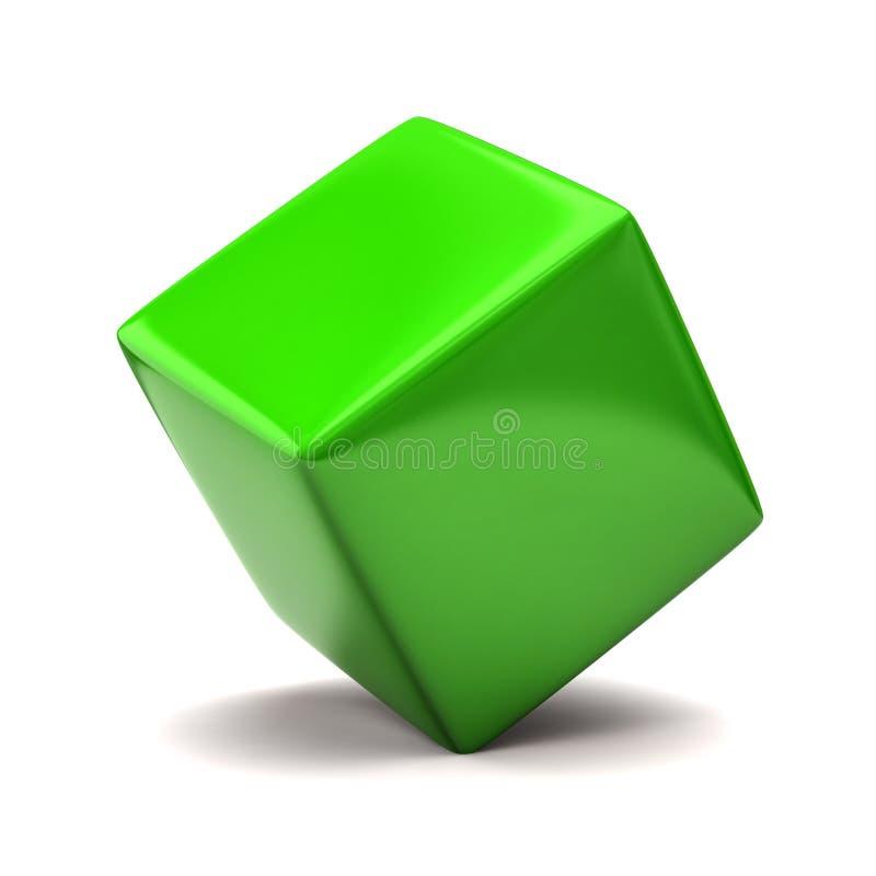 多维数据集绿色 皇族释放例证