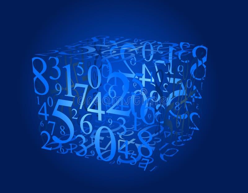 多维数据集编号 向量例证