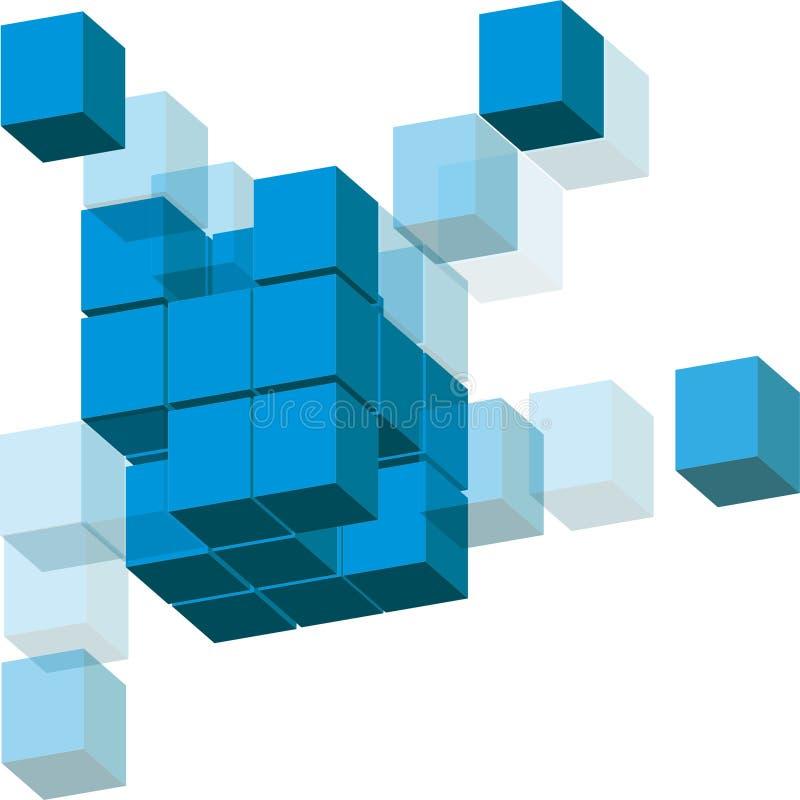 多维数据集 库存例证