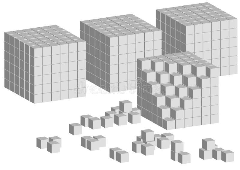 多维数据集 向量例证