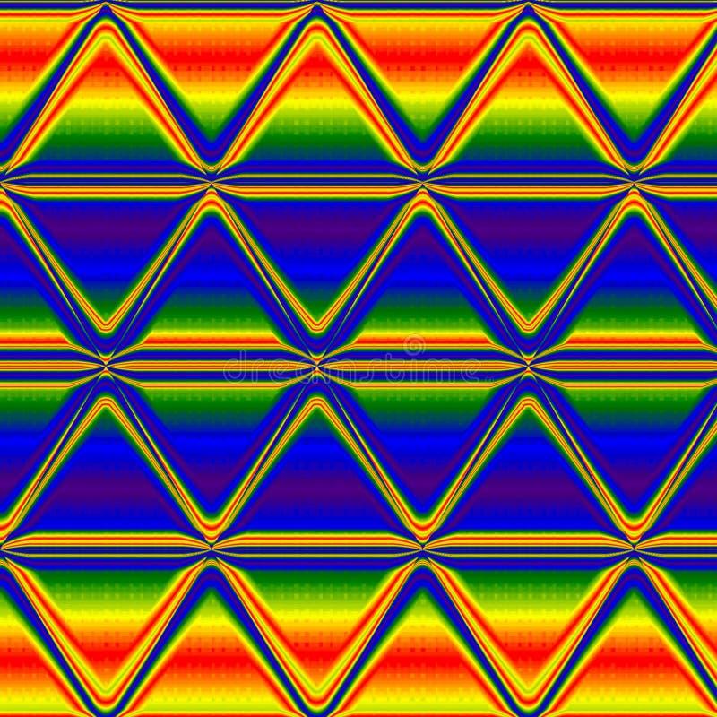 多色三角霓虹彩虹背景,多色霓虹焕发背景 库存照片