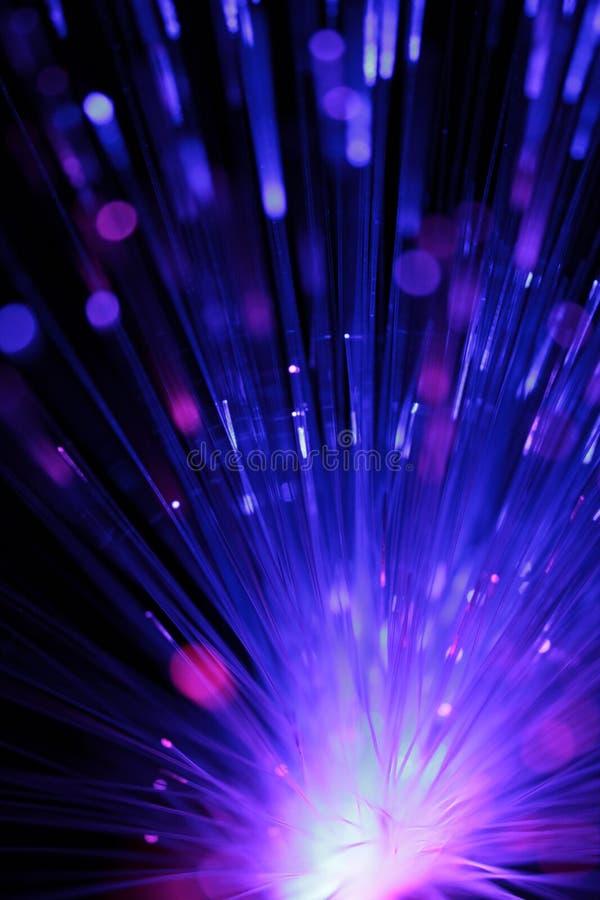 多色光纤抽象看法作为背景 免版税库存图片