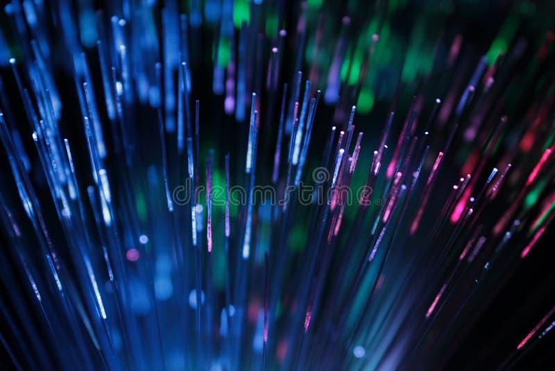 多色光纤抽象看法作为背景 免版税图库摄影