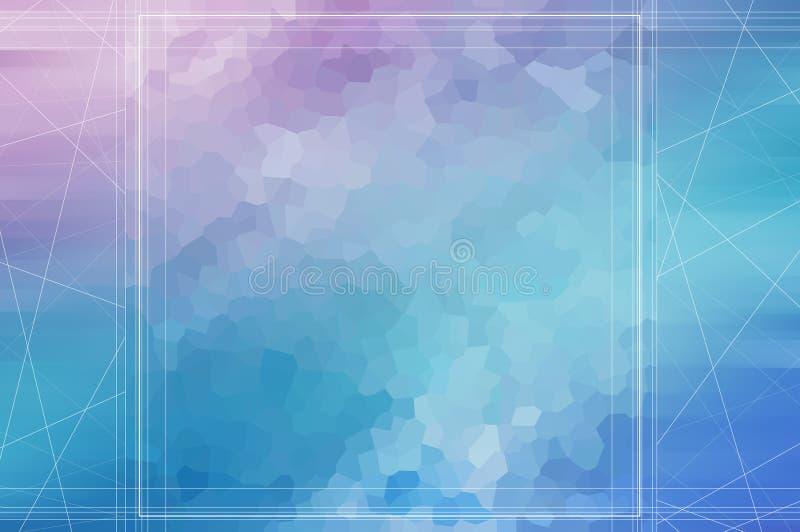 多色几何弄皱的三角低多样式梯度 库存例证
