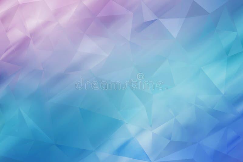 多色几何弄皱的三角低多样式梯度 皇族释放例证