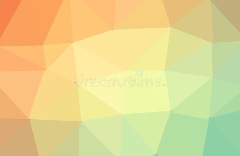 多色几何弄皱的三角低多origami样式梯度例证图表背景 r 库存例证