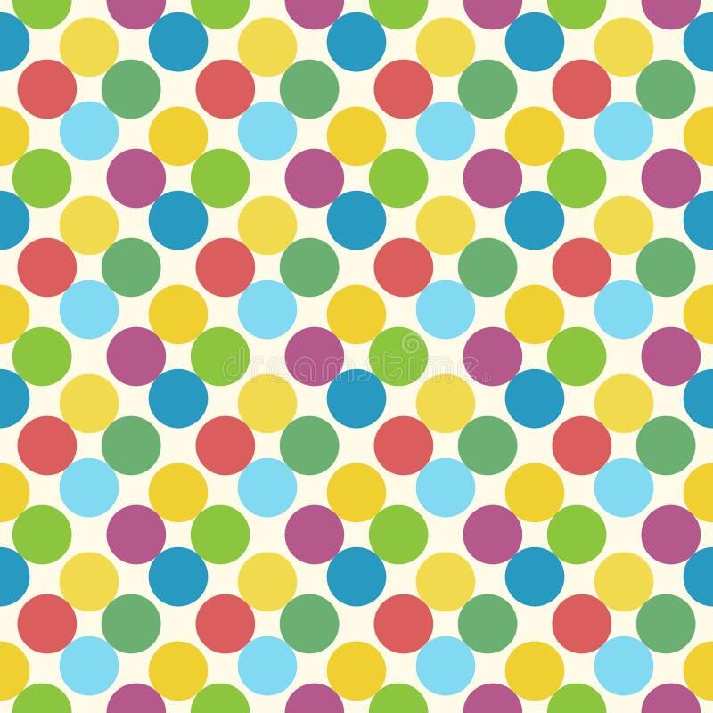 多色圈子无缝的样式 向量例证