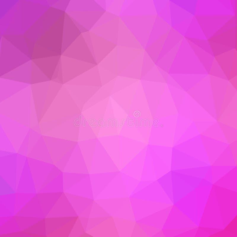 多色多角形例证,包括三角 几何的背景 皇族释放例证
