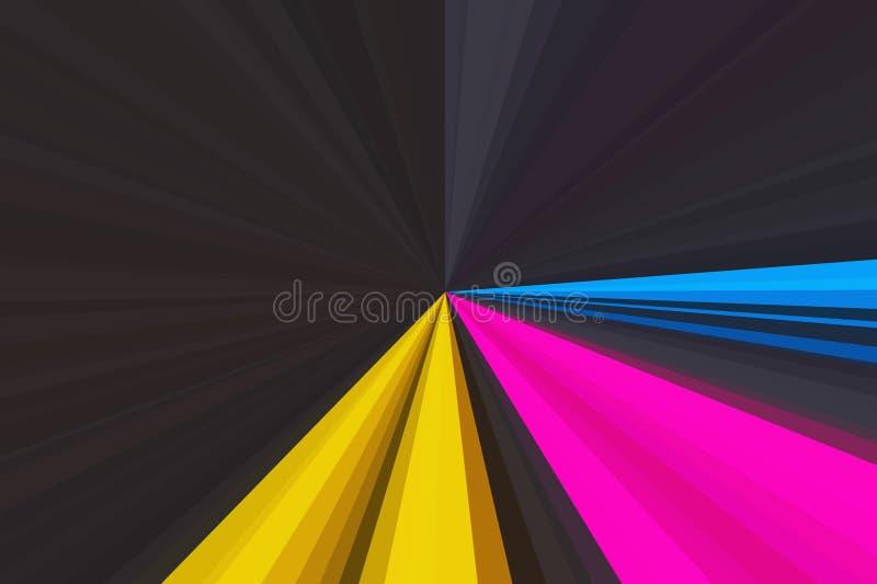 多色摘要发出光线背景 五颜六色的条纹射线样式 时髦的例证现代趋向颜色 免版税图库摄影