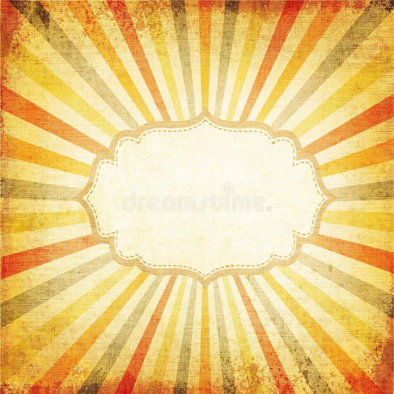 多色朝阳或太阳光芒, 皇族释放例证
