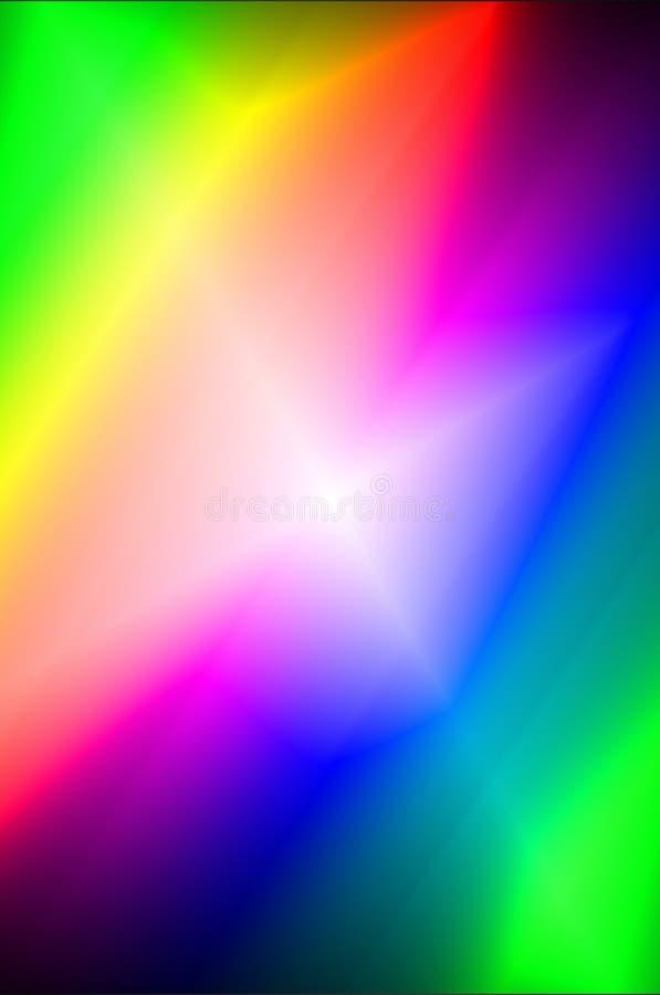 多色现代发光的抽象背景 皇族释放例证