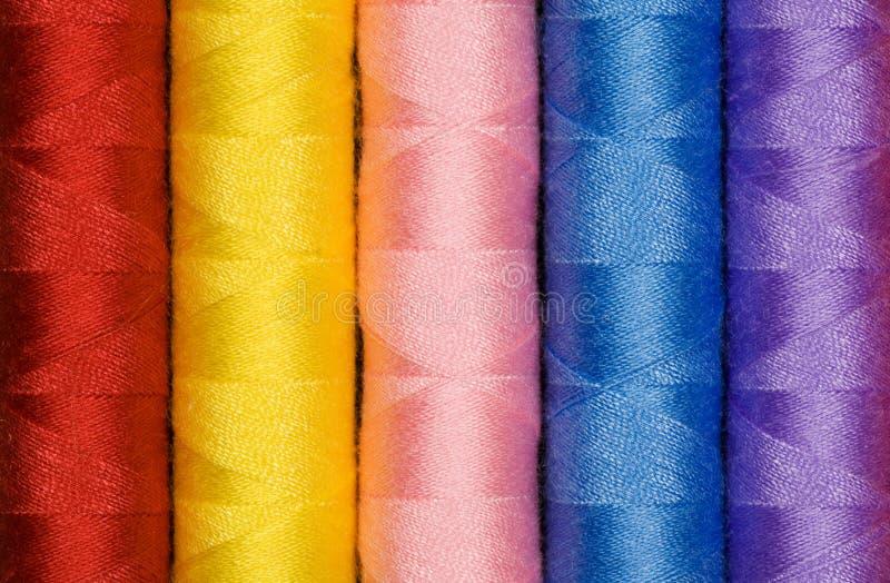 多色的棉花 库存照片