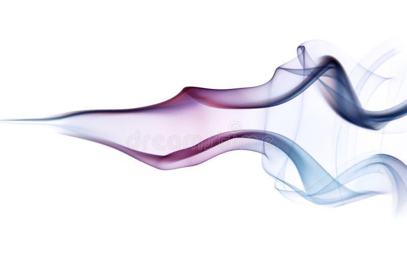 多色的烟足迹 免版税库存图片
