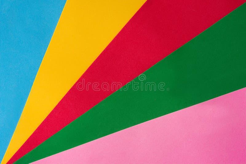多色的背景 色的纸板 库存图片