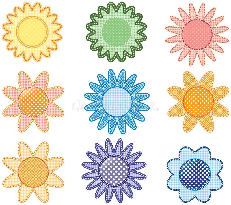 多色的花 向量例证