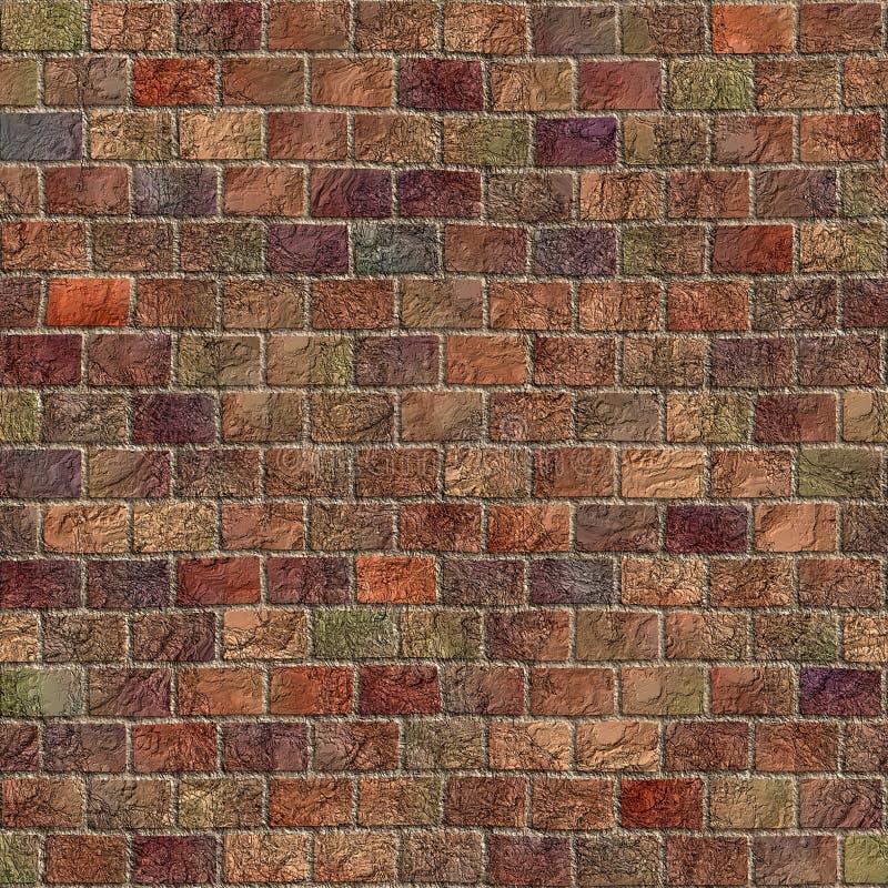 多色石墙 库存例证