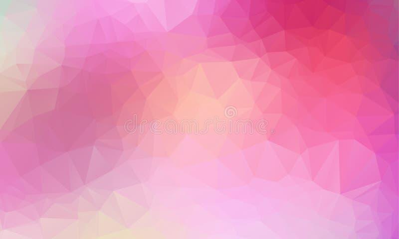 多色紫色,桃红色几何弄皱的三角低多样式梯度例证图表背景 皇族释放例证
