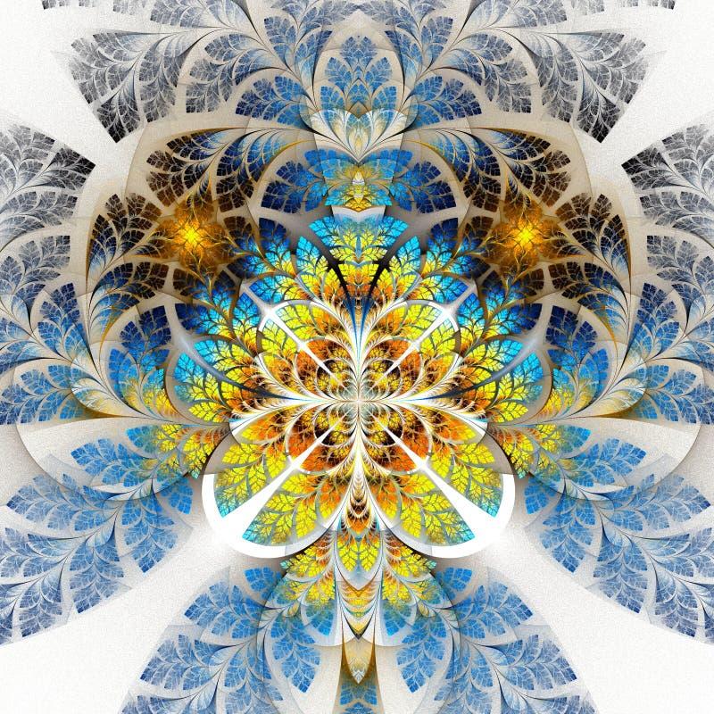 多色美妙的分数维样式 汇集-树叶子 向量例证