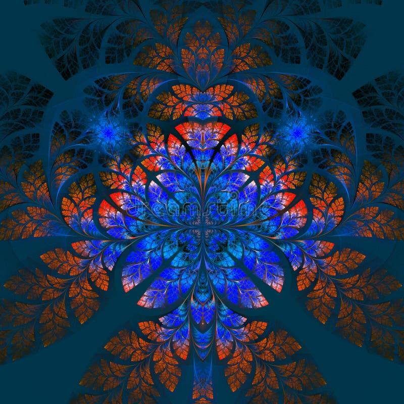 多色美妙的分数维样式 Collectiont -树叶子 库存例证