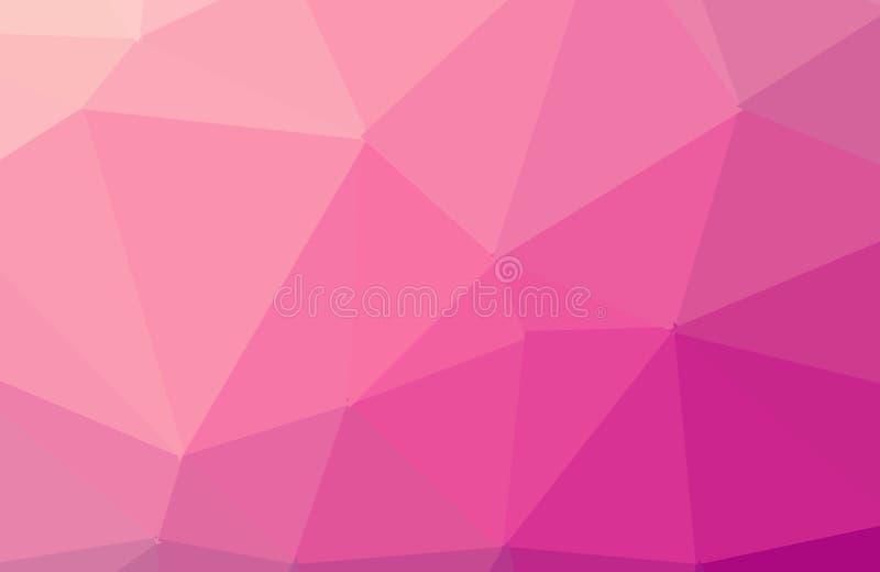 多色黑暗的桃红色几何弄皱的三角低多样式梯度例证图表背景 r 皇族释放例证