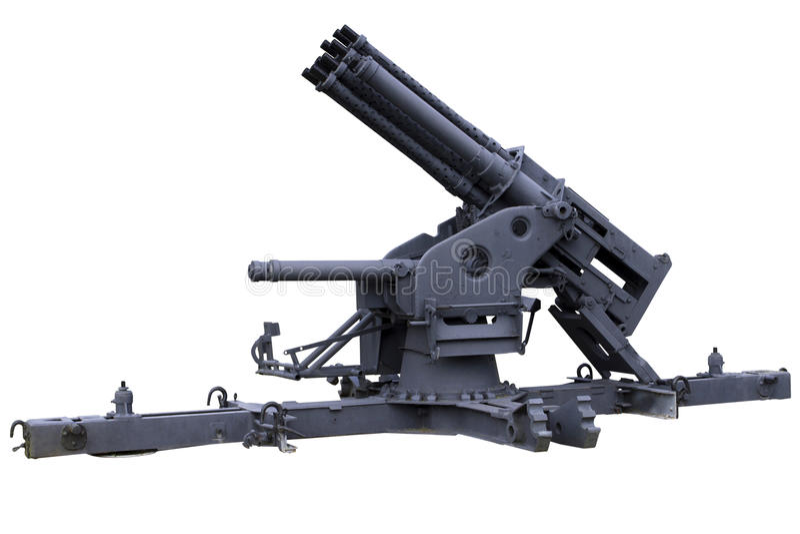 多被滚磨的高射炮 免版税库存照片