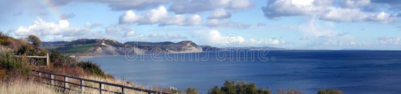 多西特侏罗纪海岸线在英国 免版税库存照片