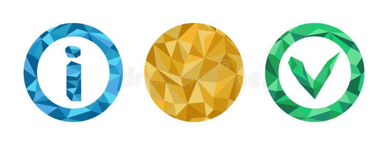 多角形信息象设置与几何图 向量例证