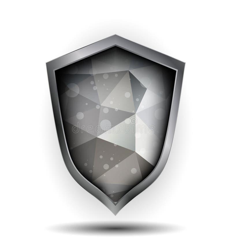 多角形元素盾 皇族释放例证