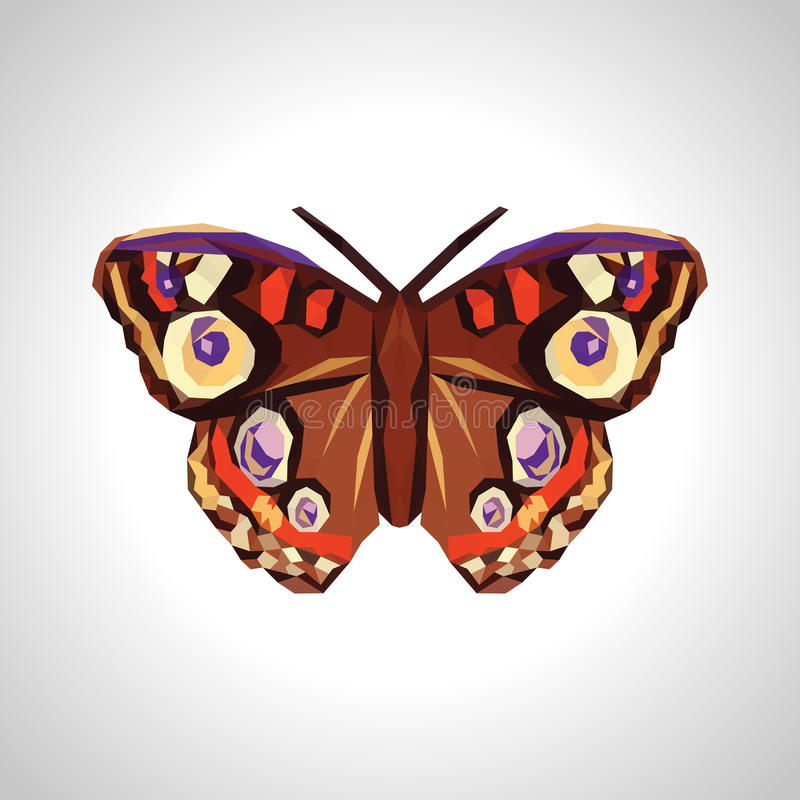 多角形和大美丽的蝴蝶 皇族释放例证