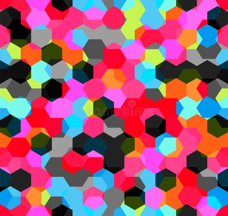 多角形多色抽象几何背景的现代无缝的样式 向量例证