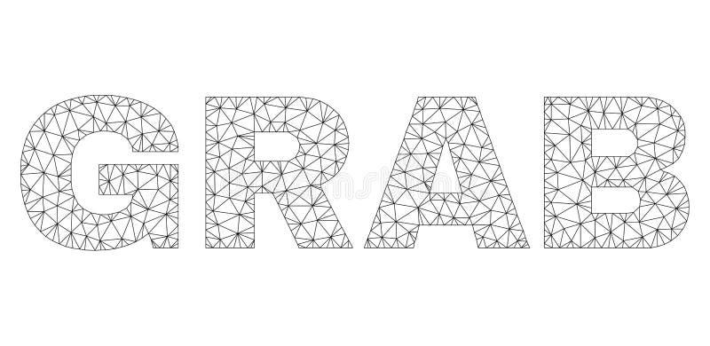 多角形导线框架劫掠文本标记 向量例证