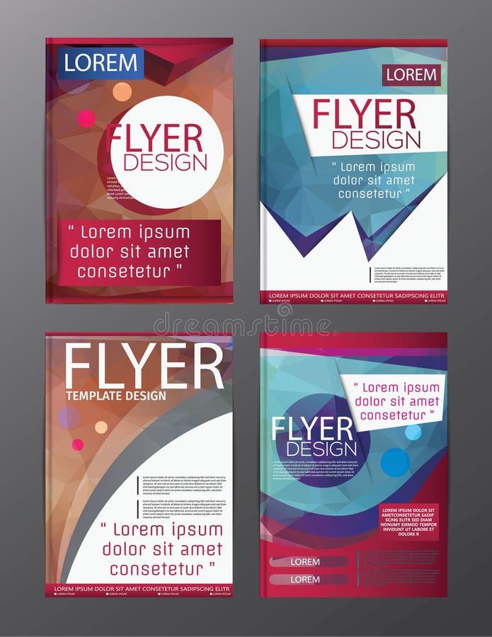 多角形小册子飞行物,杂志封面小册子企业教育介绍的,编辑可能的传染媒介例证模板设计 皇族释放例证