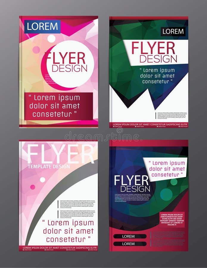 多角形小册子飞行物,杂志封面小册子企业教育介绍的,编辑可能的传染媒介例证模板设计 向量例证