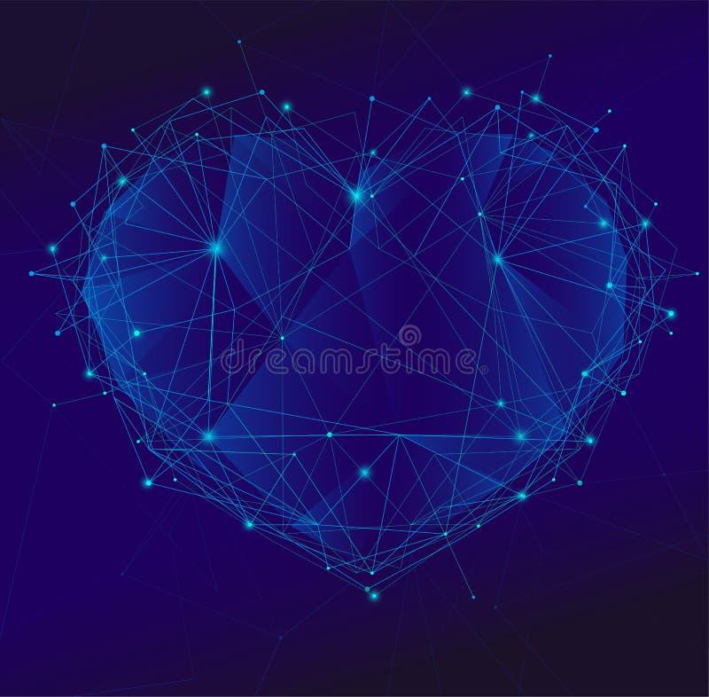 多角形心脏 皇族释放例证