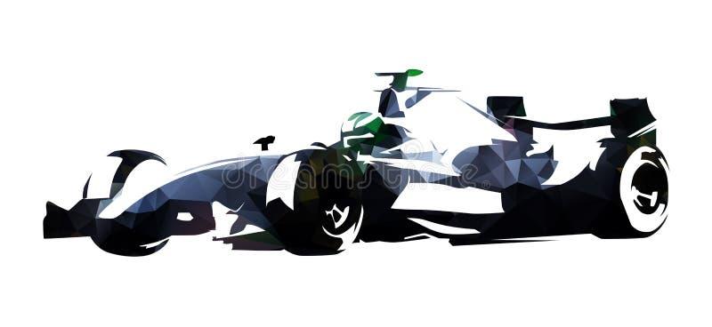 多角形惯例赛车,抽象传染媒介例证 库存例证